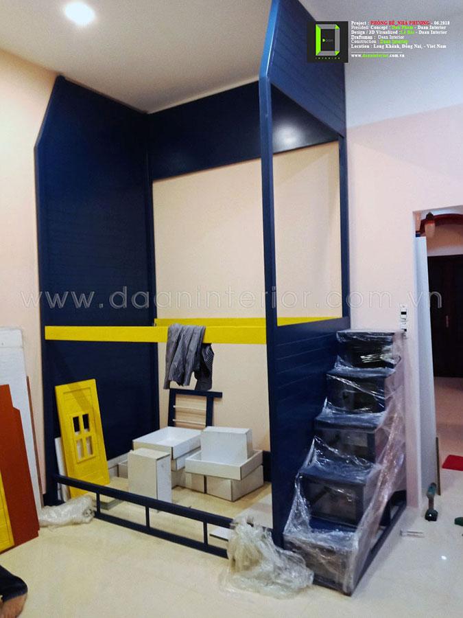 Thiết kế, thi công trang trí nội thất Phòng bé – nhà Phương